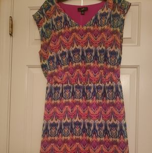 AGB Dress multi colorful print. Size 14